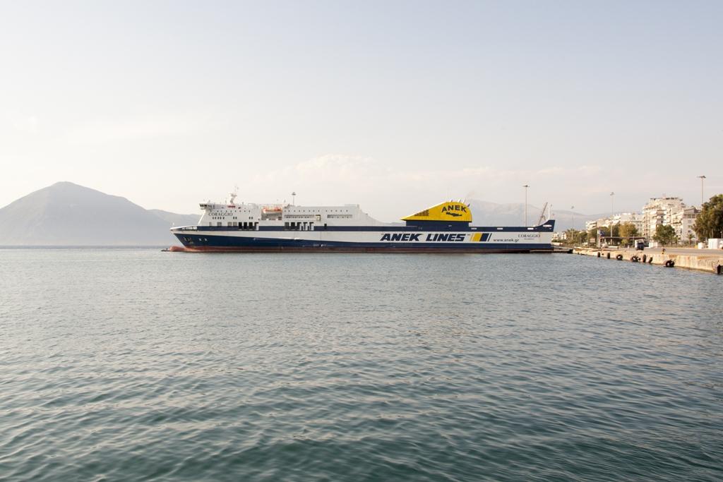 Il Coraggio Apuania con Anek in viaggio su Venezia