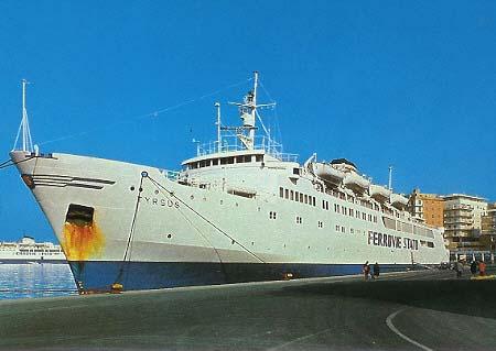 Le navi ferroviarie tra Civitavecchia e Golfo Aranci