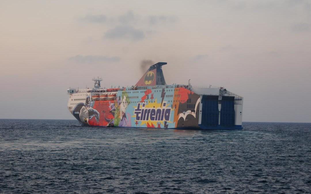 Sharden in partenza da Porto Torres