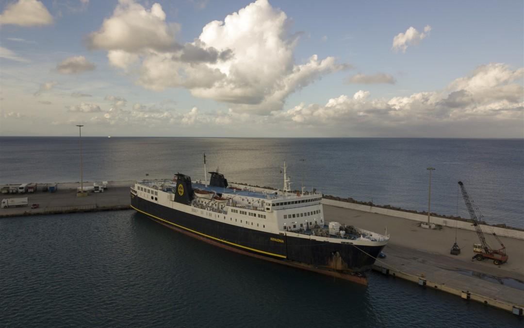 Nissos Kefalonia in giallo: a Levante Ferries la nave di Kefalonian Lines